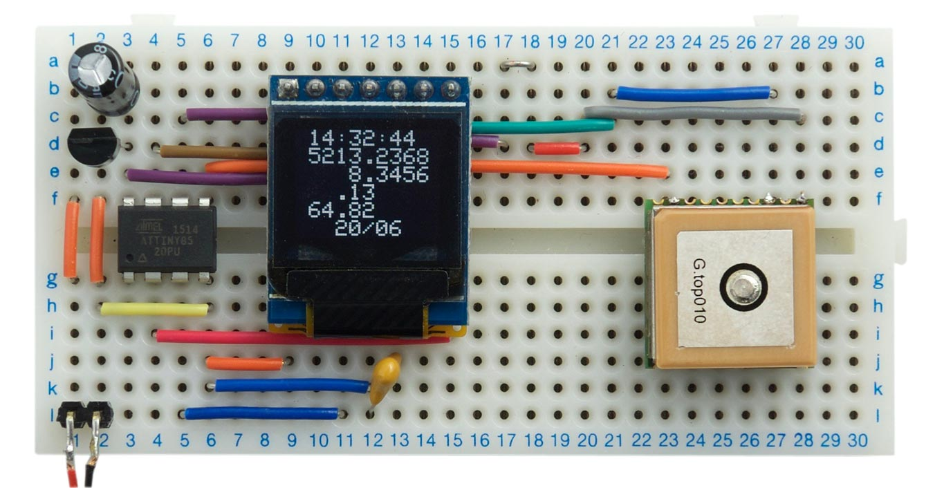 Technoblogy Flexible Gps Parser An Easy To Use Led Bargraph Display Monitor Audio Levels Circuit The Gtpa010 Or Pa6c Is A Small Surface Mount Module Available From Aliexpress Pv Electronics In Uk Although Its