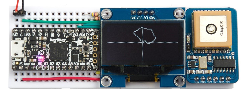 Technoblogy - I2C GPS Module PCB
