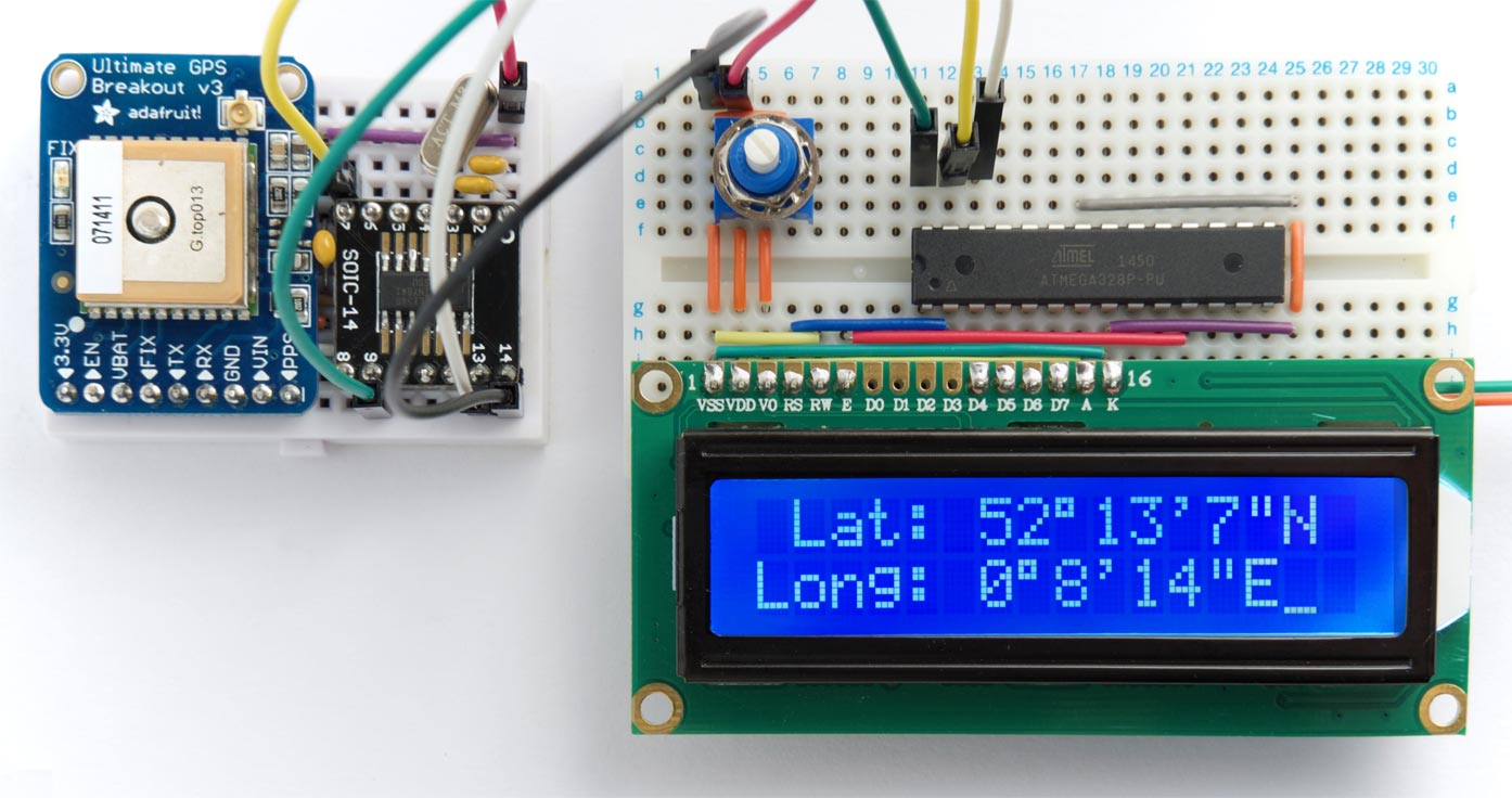 Technoblogy I2c Gps Module Circuit Board Buy Boardgps Tracking Pcbgps Heres The Routine To Read Long Integer Value Returned By And Print It As Degrees Minutes Seconds
