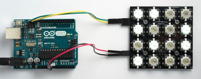 Technoblogy - Illuminated Button Matrix